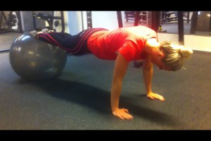 Core øvelse med bold